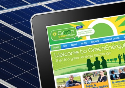 Green Energy Net website a with pv panel