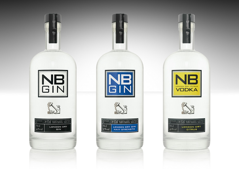 NB Gin, NB Gin - navy strength and NB Vodka