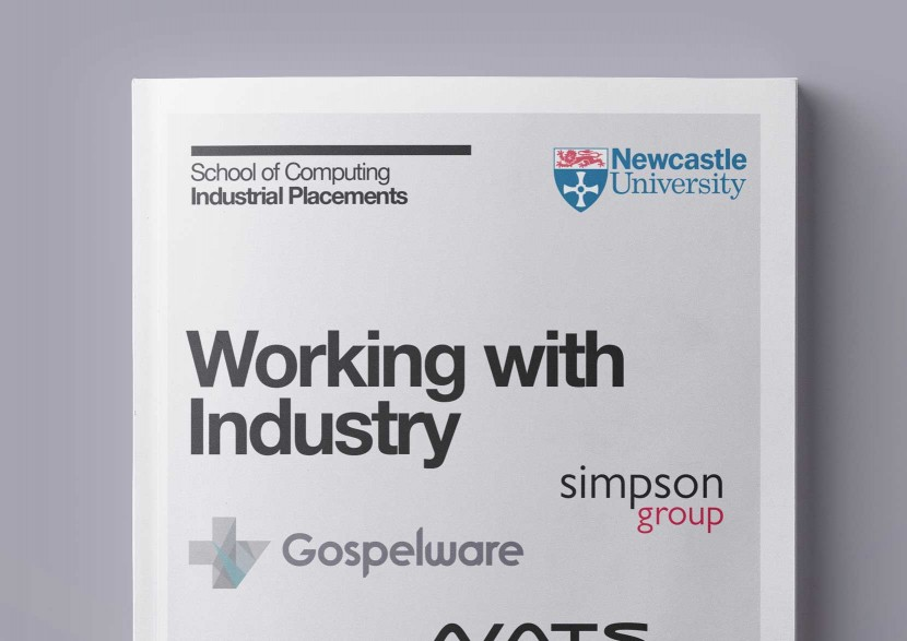 Close up of the cover for Newcastle University Computer Science Industrial Placement Case Study Brochure